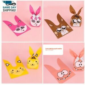 20 Pieces Rabbit Long Ear Candy Bags Kids Birthday Baby Shower Packaging Bag