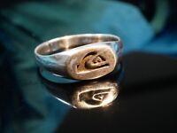 925 Silber Ring Siegelring Patina Hieroglyphen Ägypten Mystisch Zeitlos Schön