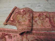 2 ancien tissu french textile tapisserie broderie main soie laine louis 16 18e