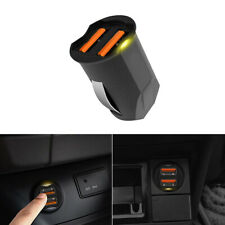 1x 2 Port 2.1A Mini Dual USB Car Charger Adapter 12-24V Cigarette Socket Lighter