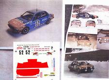 Decals Record Peugeot 505 SRD Esso C.Dorche Monte Carlo 1981