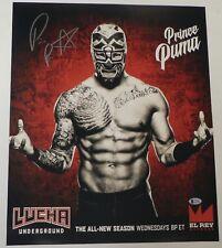 Prince Puma Signed 16x20 Photo BAS COA Lucha Underground Ricochet NJPW Wrestling
