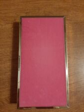 Vintage Mele Pink Velvet Travel Jewelry case
