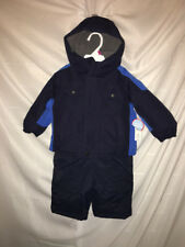 Boys 12 Month Infant Snowsuit Winter Jacket Snow Pants Combo Set Navy Blue NWT