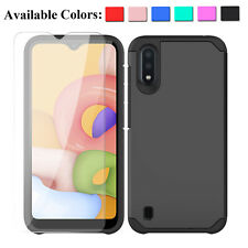 For Samsung Galaxy A01 A21 A11 Shockproof Case Cover / HD Glass Screen Protector