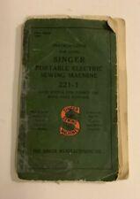 Singer Featherweight 221 Instruction Manual  - vintage ORIGINAL