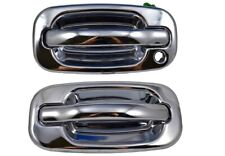 for Chevy GMC Exterior Outside Door Handle Chrome Front Left Right Set of 2