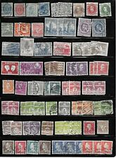 DENMARK; Small collection of about 100 used stamps NOT individually identified