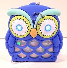 BATH & BODY WORKS BLUE BOY OWL LIGHT UP POCKETBAC SANITIZER HOLDER SLEEVE NEW!
