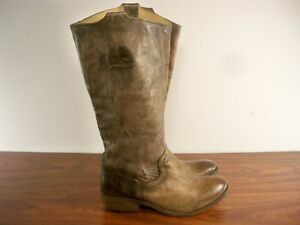 FRYE Women's # 77207 Carson Tab Tall Western Riding Leather Knee-High Boots Sz 6