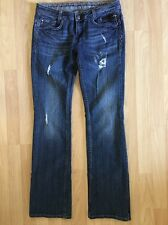 """Rerock For Express Distressed Holes Jeans Size Boot 4 Inseam 32"""""""