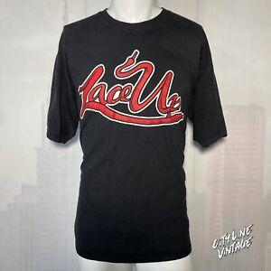 MGK Machine Gun Kelly Lace Up Logo Men's Black Size XL Rap T Shirt