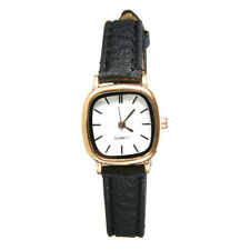 Luxury Women Retro Small Square Dial Slim Leather Band Strap Quartz Wrist Watch