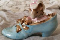 Beatrix Potter OLD WOMAN Who Lived in a Shoe Beswick England©1959 Vintage Mouse