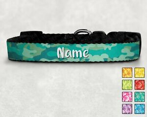 Camo Personalised Printed Pet Collar