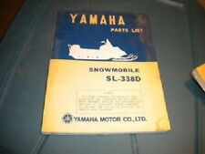 Yamaha Parts List Catalog SL338D SL338 D 3/72