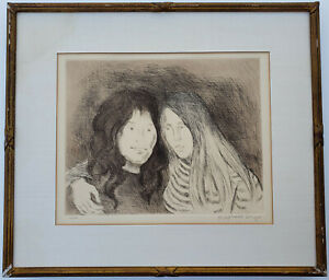 RAPHAEL SOYER Original SIGNED Ltd Edition DRYPOINT Union Square Sisters WPA