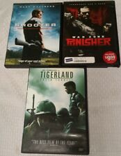 Lot of 3 Retro 2000s DVD Action Rated R Movies: PUNISHER, TIGERLAND, SHOOTER