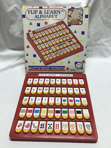 Alphabet Plastic Toys Flip & Learn Alphabet Educational Preschool By Battat 1990