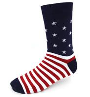 Men's Colorful Stars & Stripes USA Patriotic Socks Size 10-13 New