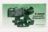Bedienungsanleitung Canon Automatik-Balgengerät Automatik Balgengerät Anleitung