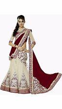 Bollywood Style Designer Bridal Partywear Maroon Net Lehenga Choli Saree