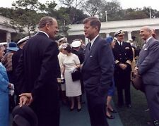 President John F. Kennedy greets Clark Clifford in Rose Garden 8x10 Photo