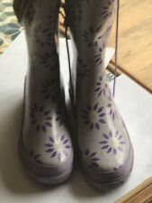 Laura Ashley Purple Floral Wellies Size 4brand New
