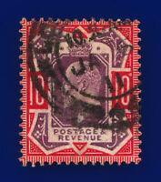 1910 SG256 10d Dull Purple & Scarlet  CSP M43(5) JA 6 11 Good Used Cat £75 curi