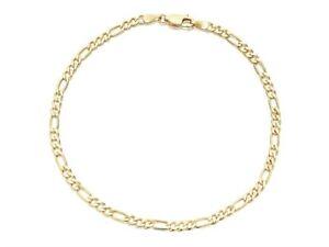 Real Gold Filled Anklet Bracelets Figaro Link 10 Inch 5mm 14k Layered