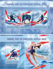 Olympic Winter Games Sochi 2014 Sports Snowboard Olympics Guinea MNH stamp set