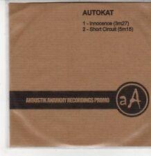 (DG418) Autokat, Innocence / Short Circuit - 2007 DJ CD