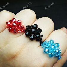 New 20pcs Wholesale Jewelry Lots MIx Natural Crystal beads Handmade Flower Rings