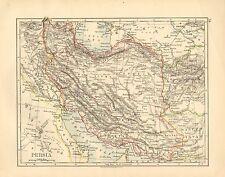 1892 VICTORIAN MAP ~ PERSIA ~ LARISTAN KERMAN AFGHANISTAN KHORASAN