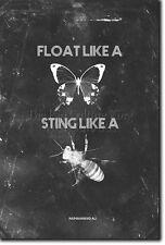 Flotteur comme un papillon sting comme un poster Bee imprimé Photo Cadeau Citation de Boxe Art