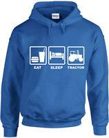 Eat Sleep Tractor, Farming inspired Printed Hoodie UK Jumper Hooded Sweatshirt