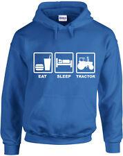 EAT SLEEP Tractor, GRANJA Inspirado Estampado Sudadera Con Capucha