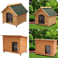 Multiple Sizes Dog Pets Kennel House Wooden Outdoor House Shelter with PVC Door