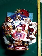 "Christopher Radko ornament Merry Christmas To All nwt Christmas 7"""