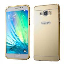 Alu Bumper 2 teilig Abdeckung Gold für Samsung Galaxy A5 A500 F Hülle Tasche Neu