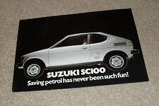 Suzuki SC100 Double Sided Brochure Flyer 1979