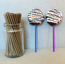 "4.5"" Plastic Gold Lollipop Sticks, Gold Sucker Sticks, Gold Cake Pop Sticks"