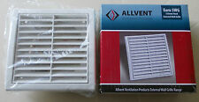 Fixed Grille Air Vent with 125mm Duct Spigot thin model- EURO 5WG ALLVENT