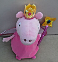 """ty Peppa Pig's 13"""" PRINCESS/Fairy PEPPA PIG Soft Plush Toy With Wings & Wand"""