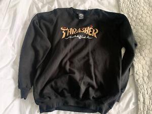 Thrasher sweatshirt. Black. Size L.
