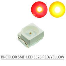 3528RY 100 Stk. SMD LED rot/gelb Doppelchip Bi-Color 3528 NEU