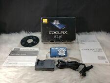 Nikon COOLPIX S210 8.0MP Digital Camera - Blue