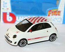 Burago - FIAT 500 ABARTH (White) - 'Street Fire' Model Scale 1:43