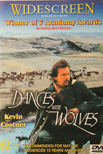 Dances With Wolves DVD WIDESCREEN VERSION - Kevin Costner ACADEMY AWARD WINNER