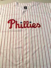 PHILADELPHIA PHILLIES WHITE BLANK BIG SIZES MAJESTIC MLB JERSEY FREE SHIPPING